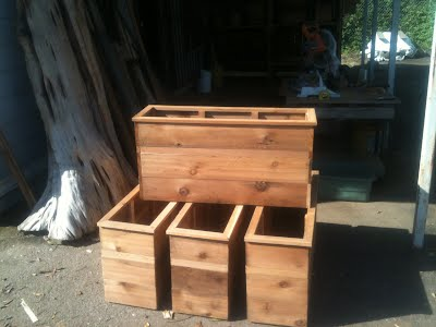 custom cedar planter boxes